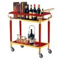 Xe phục vụ rượu hai tầng bằng gỗ