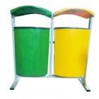 Thùng đựng rác treo đôi bằng nhựa composite phân loại rác