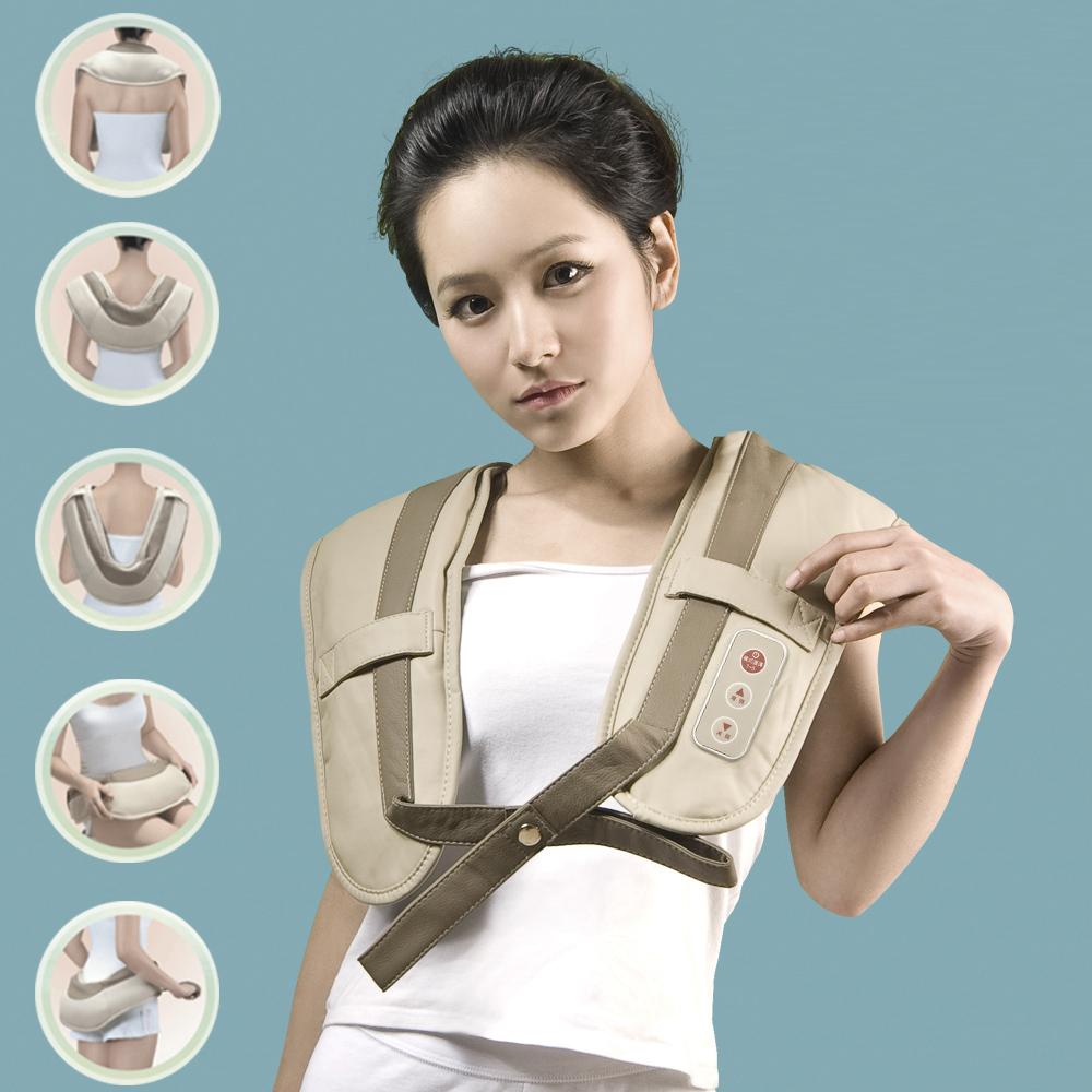 Máy đấm lưng Nhật Bản, gối mát xa hồng ngoại giảm đau, đai đeo đấm lưng tự động